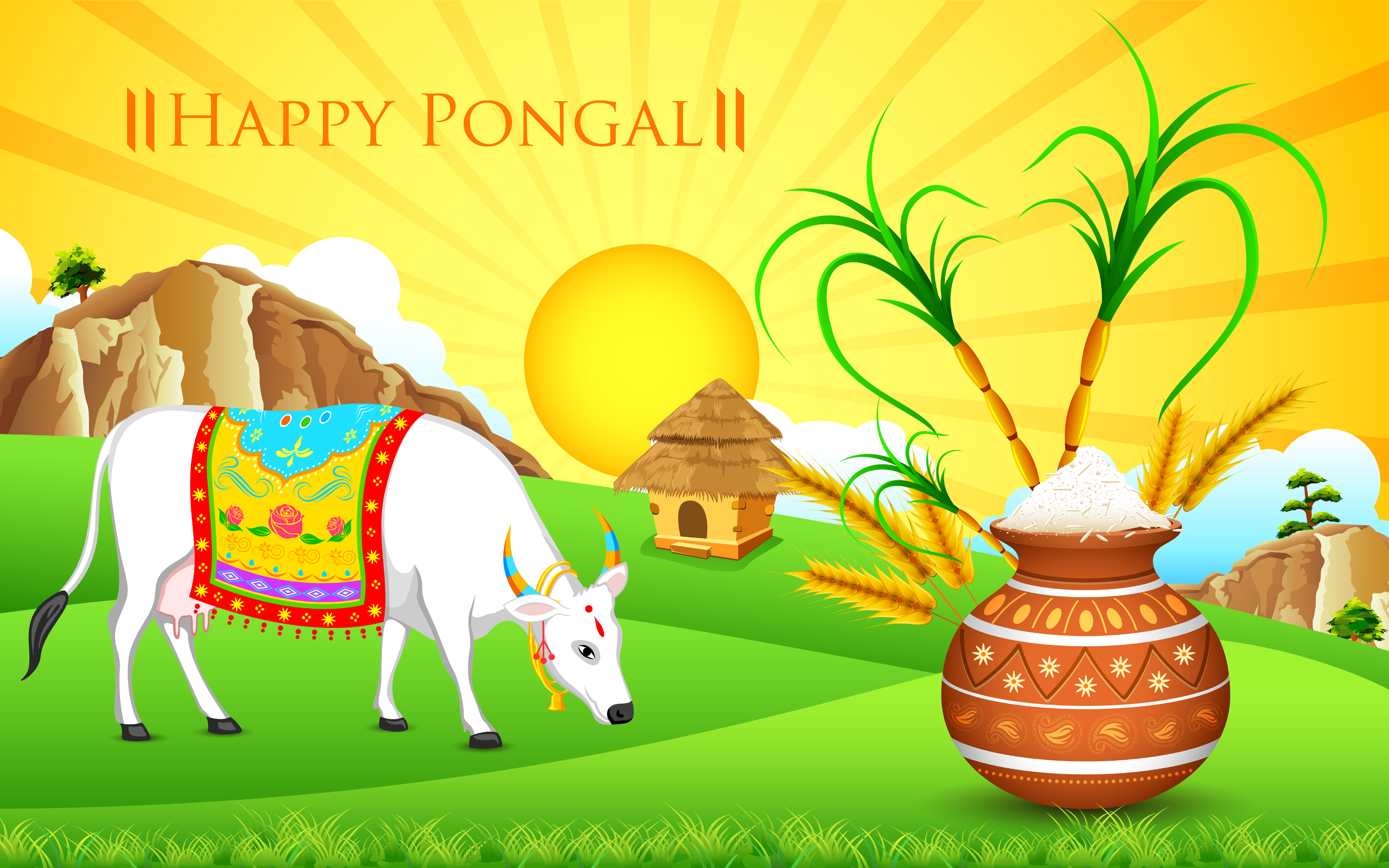 Happy Pongal 2018 HD Wallpaper