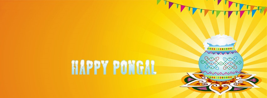 Happy Pongal Facebook Cover Photo