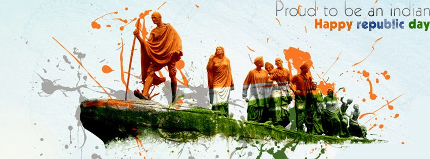 Happy Republic Day 26th Jan Facebook Timeline Cover