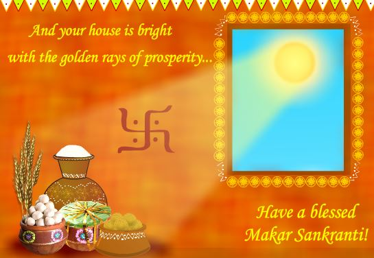 Makar Sankranti Greeting Card Free Download