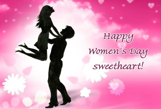 Happy Women's Day 2018 Kissing Greeting Card