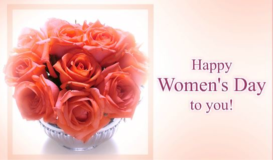 Happy Women's Day Greeting Card with Rose