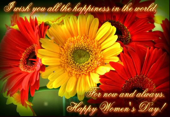 International Women's Day 2018 Greeting Card with Flower