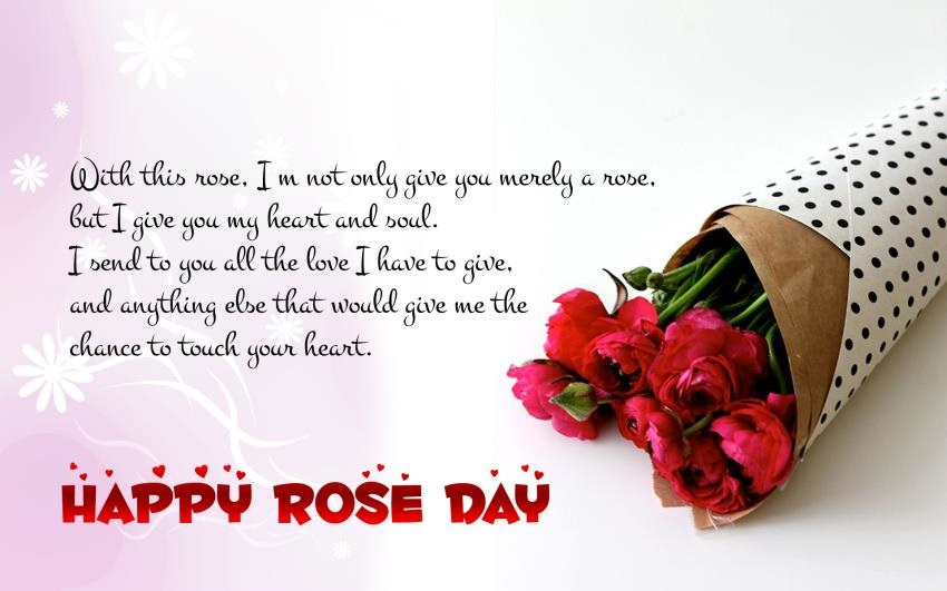 Rose Day 2018 Greeting Quote Wallpaper