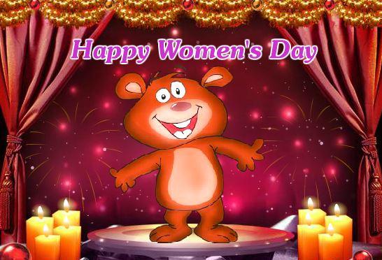Women's Day 2018 Cartoon Greeting Card