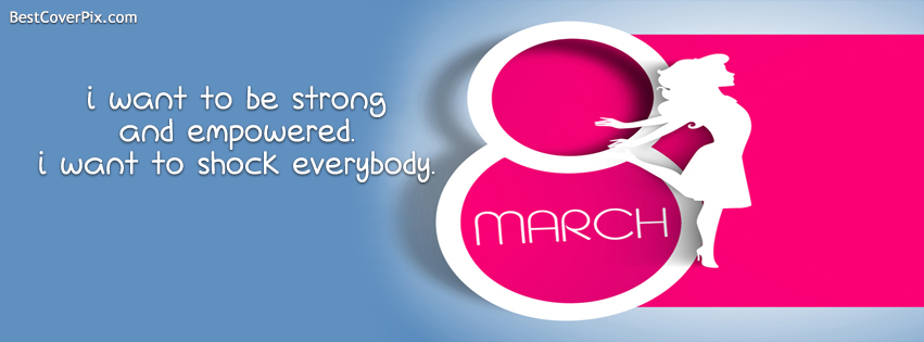 Women's Day 2017 FB Cover with Quote