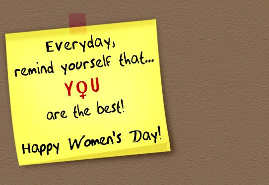 Women's Day 2018 Inspirational Greeting Card