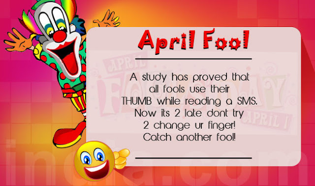 Happy April Fool's Day 2017 Funny Message & SMS