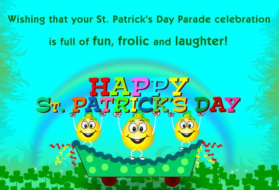 Happy Saint Patrick's Day 2017 Parade Cards