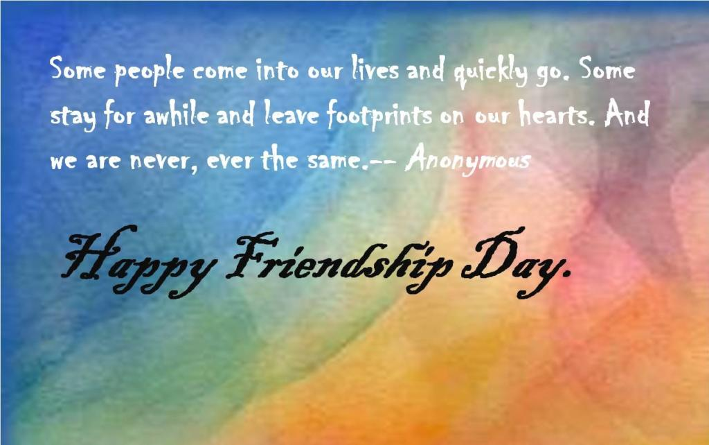 Friendship Day Gift Card with Best Wishes