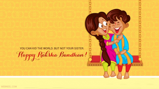 Raksha Bandhan Wallpaper for Sister & Brother