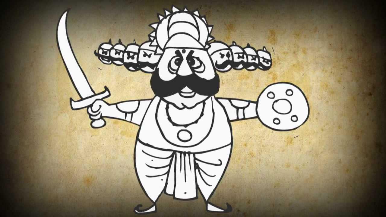 Dussehra Animated Cartoon