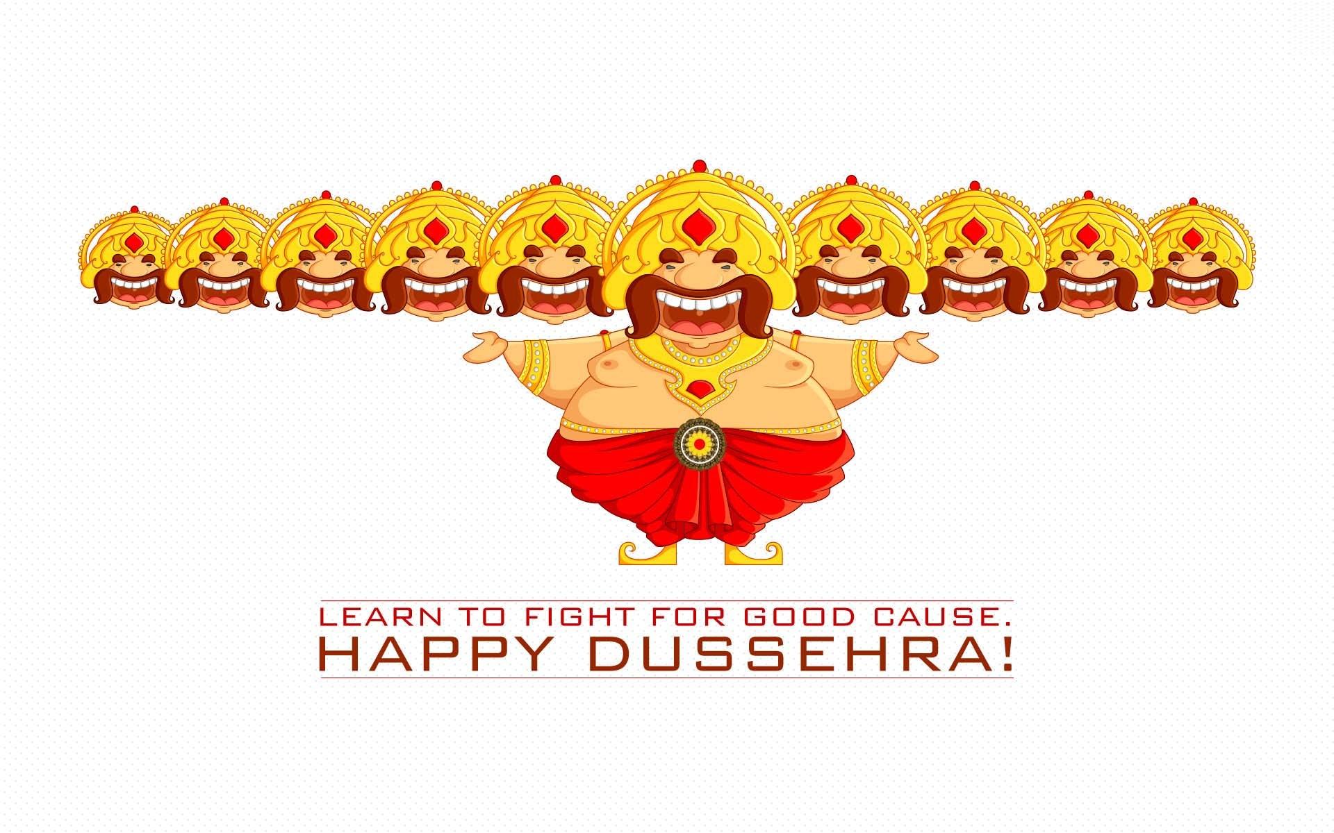Happy Dussehra Funny Cartoon