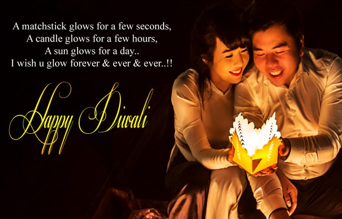 Happy Deepavali Couple Images for Lovers, Wife & Husband
