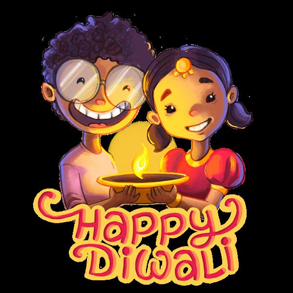 Happy Diwali Stickers for WhatsApp